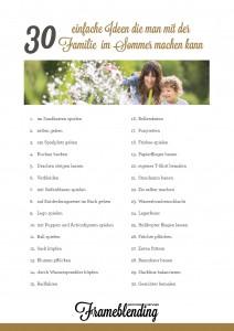 30 Ideen die man mit der Familie machen kann