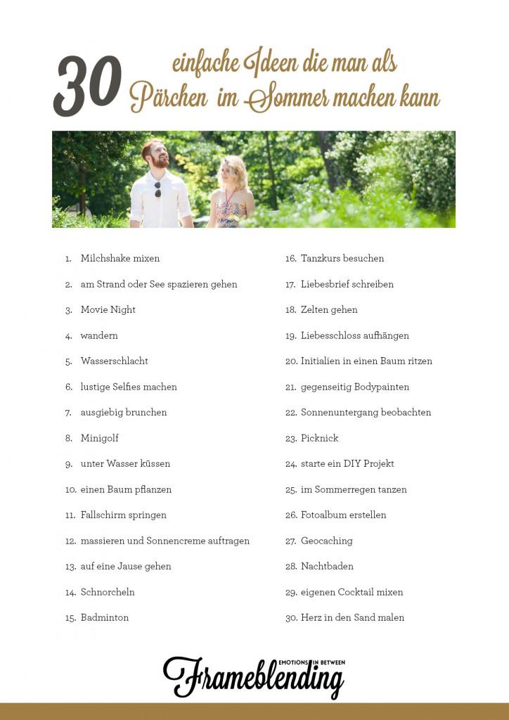 30 Ideen die man als Pärchen machen kann