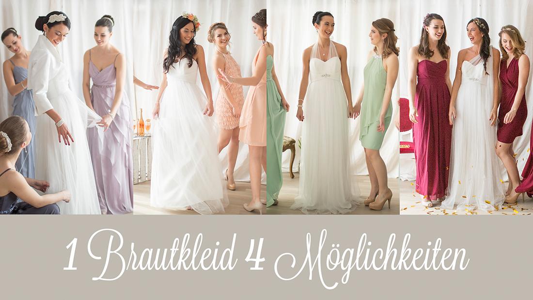 1 Brautkleid 4 Möglichkeiten