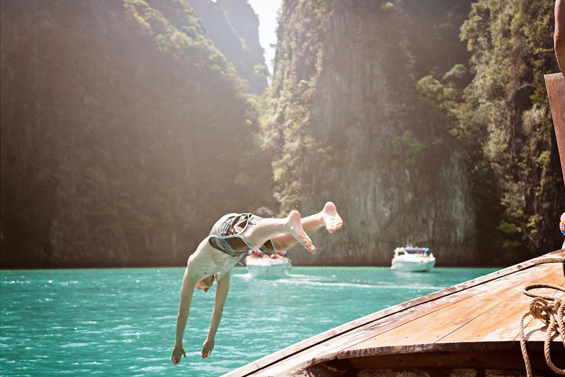 Thailands Buchten sind wunderschön