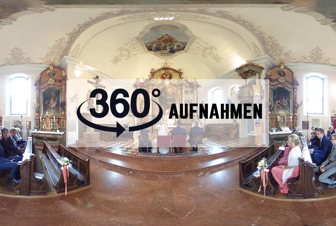 360-Grad Aufnahmen Hochzeit